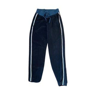 Hard Tail Blue Silky/Satin Racing Stripe Jogger Md